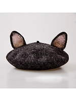 Dark Gray Cat Ears' Beret